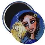 Cool Lady Blue w Wheaten Magnet