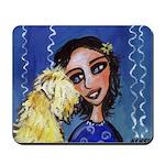 Cool Lady Blue w Wheaten Mousepad