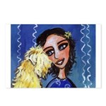 Cool Lady Blue w Wheaten Postcards (Package of 8)