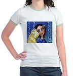 Cool Lady Blue w Wheaten Jr. Ringer T-Shirt