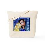 Cool Lady Blue w Wheaten Tote Bag