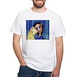 Cool Lady Blue w Wheaten White T-Shirt