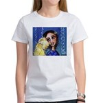 Cool Lady Blue w Wheaten Women's T-Shirt