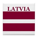 Latvia Products Tile Coaster