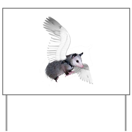 Angel Possum Yard Sign