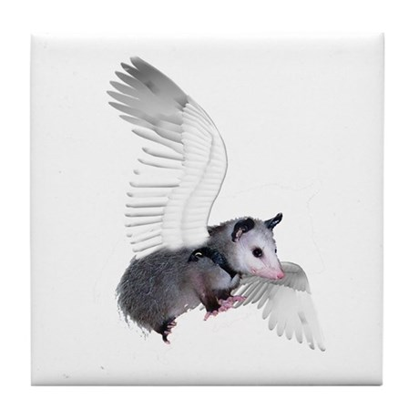 Angel Possum Tile Coaster