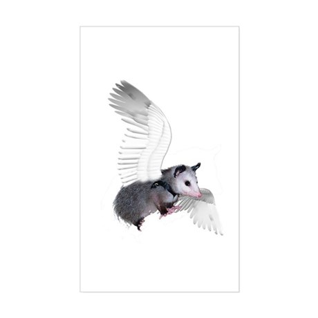 Angel Possum Rectangle Sticker