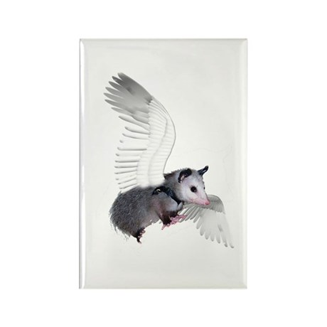 Angel Possum Rectangle Magnet