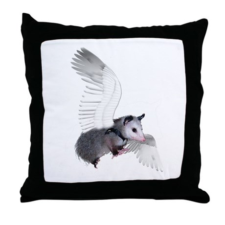 Angel Possum Throw Pillow