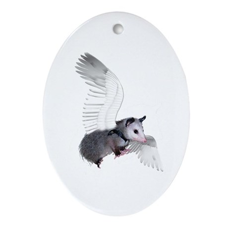 Angel Possum Oval Ornament