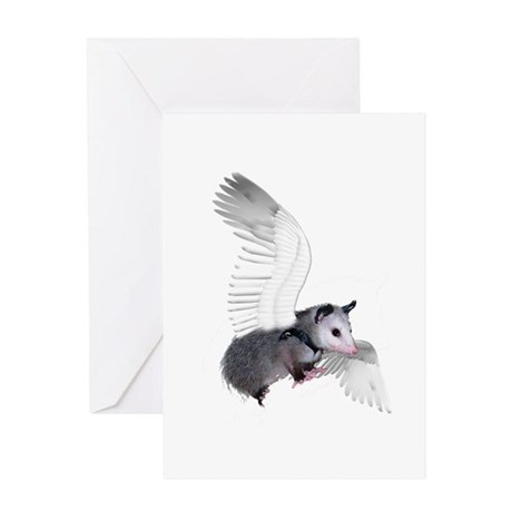 Angel Possum Greeting Card