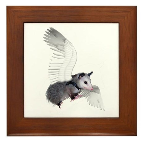 Angel Possum Framed Tile