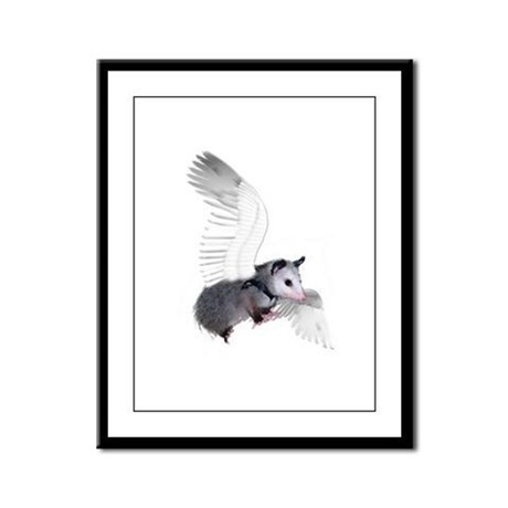 Angel Possum Framed Panel Print