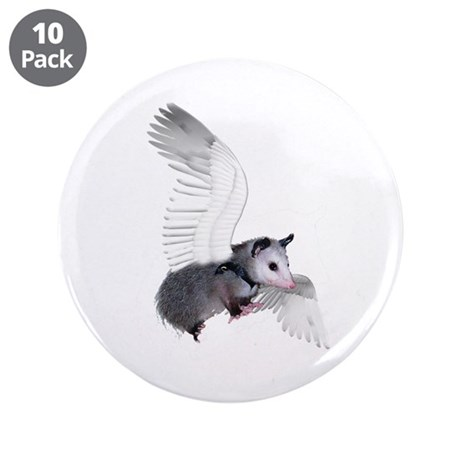 "Angel Possum 3.5"" Button (10 pack)"