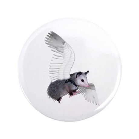 "Angel Possum 3.5"" Button"