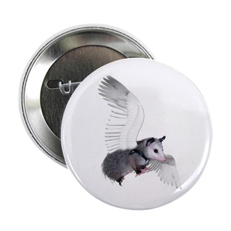 "Angel Possum 2.25"" Button (100 pack)"