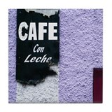 Cafe Con Leche Tile Coaster