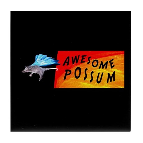 Flying Awesome Possum Tile Coaster