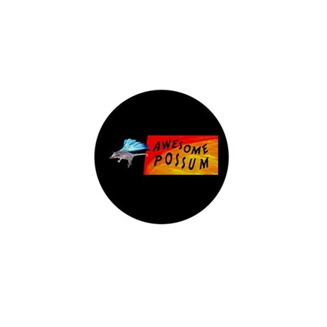 Flying Awesome Possum Mini Button