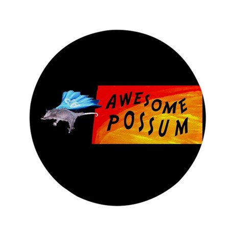 Flying Awesome Possum 3.5&quot; Button