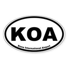Kona International Airport Oval Decal