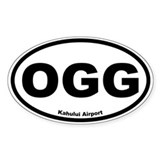 Kahului Airport Oval Decal