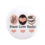 Peace Love Books Book Lover 3.5