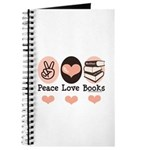 Peace Love Books Book Lover Journal