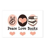 Peace Love Books Book Lover Postcards (Package of