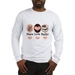 Peace Love Books Book Lover Long Sleeve T-Shirt