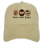 Peace Love Books Book Lover Cap