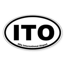Hilo International Airport Oval Decal