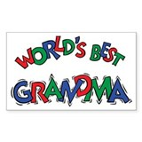 World's Best Grandma Rectangle Decal