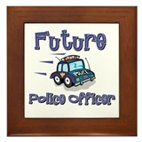 Future Policeman Framed Tile