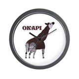 Okapi Painting Wall Clock
