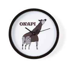 Okapi Painting Wall Clock