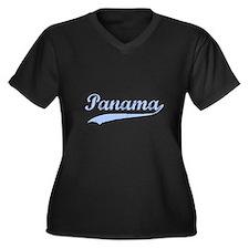 Vintage Panama Retro Women's Plus Size V-Neck Dark