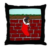 BT Dachshund Stocking Throw Pillow