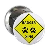 "Badger Crossing 2.25"" Button (100 pack)"