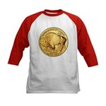 Gold Buffalo Kids Baseball Jersey
