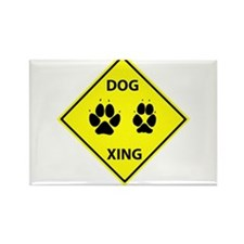 Dog Crossing Rectangle Magnet