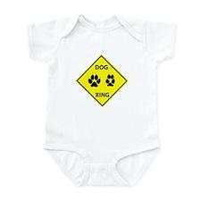 Dog Crossing Infant Bodysuit