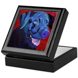 Black Lab Too Keepsake Box