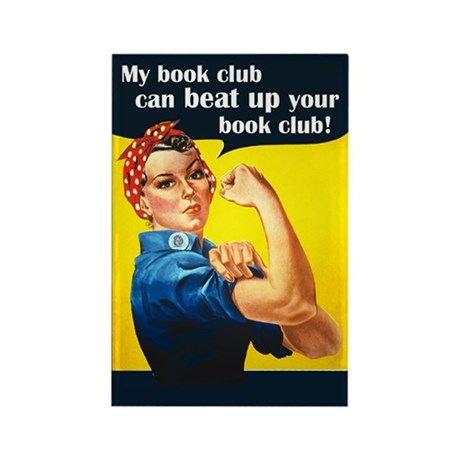 My book club can beat up your book club Magnet