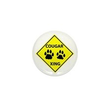 Cougar Mountain Lion Crossing Mini Button (100 pac