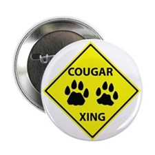"Cougar Mountain Lion Crossing 2.25"" Button (100 pa"