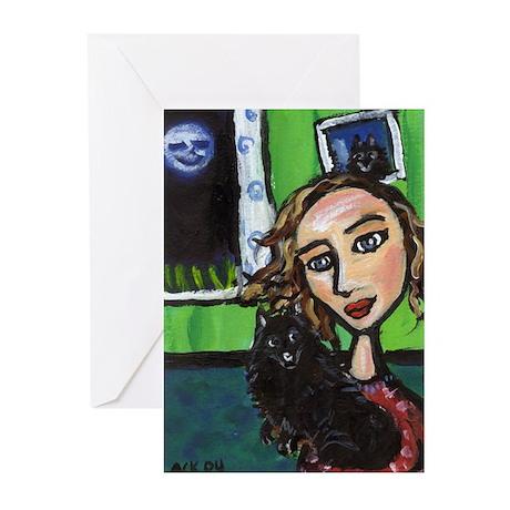 SCHIPPERKE w fav lady Greeting Cards (Pk of 10