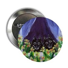"SCHIPPERKE window Design 2.25"" Button (10 pack)"