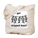 Stripped Bass Tote Bag