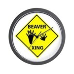 Beaver Crossing Wall Clock
